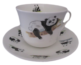 Panda Breakfast Cup and Saucer