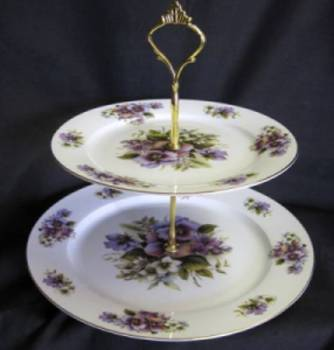 Pansy Two Tier Tray
