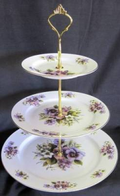 Pansy Three Tier Tray