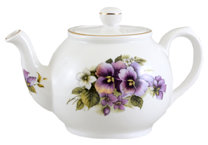 Pansy Two Cup Teapot