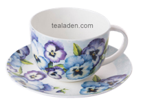Pansy Garden Breakfast Cup and Saucer