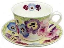 Pansy Breakfast Cup and Saucer