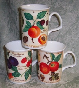 Parchment Fruit Mugs