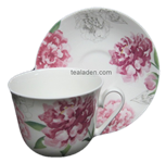 Peony Breakfast Cup and Saucer