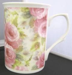 China Pink Rose Chintz Mug
