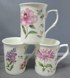 Three Meadow Flowers Mugs