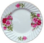 Two Summertime Rose Plates