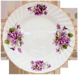 Two Violets Dessert Plates