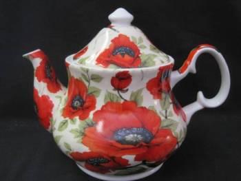 Poppy Chintz Six Cup Teapot