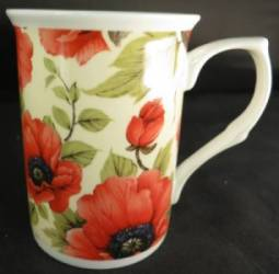 Poppy Cream Chintz Mug