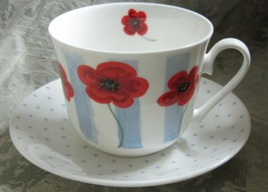 Poppy Fields breakfast cup and saucer