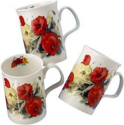 Three Poppy Mugs