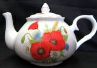 Poppy Fields Six Cup Teapot