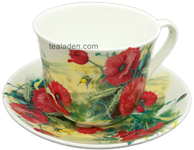 Poppy Breakfast Cup and Saucer
