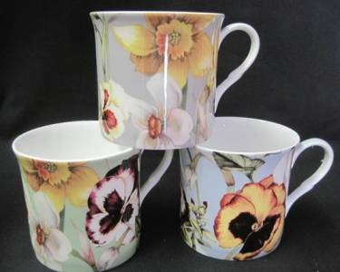 Princess Collection Pansy Mugs