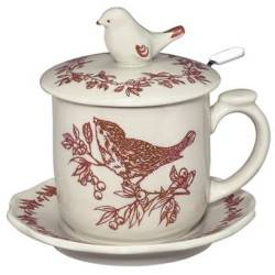 Red Bird Infuser Mug