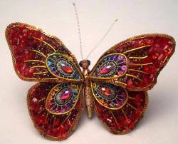 Red Bead Butterfly