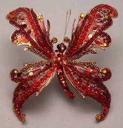 Red Scalloped Butterfly