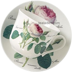 Redoute Rose Breakfast Cup and Saucer