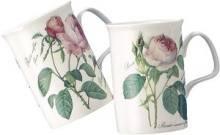 Redoute Rose Mugs Set of Four