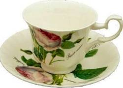 Two Redoute Rose Cup Sets