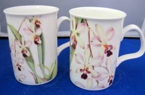 Retro Orchids Mug
