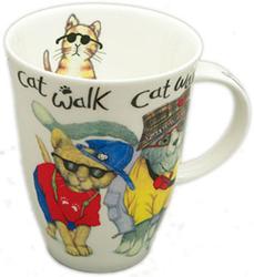 Animal Fashions Cat Mugs Set of Two