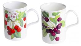 Cherry Mugs Set of Four