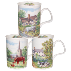 English Country Scenes Mugs Set of Three