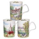 English Country Scenes Mugs Set of Three