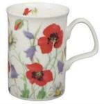 Red English Meadows Mugs Set of Three