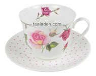 Rose du Temps Breakfast Cup and Saucer