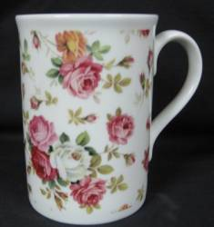 Rose Basket Cream Mug