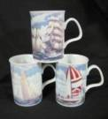 Three Sailboat Mugs
