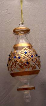 Gold Glass Ornament