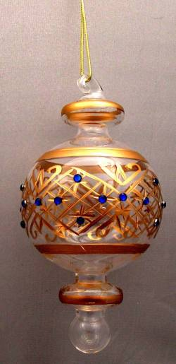 Round Gold Glass Ornament