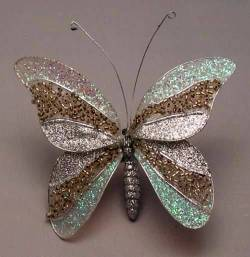 Silver and Gold Butterfly