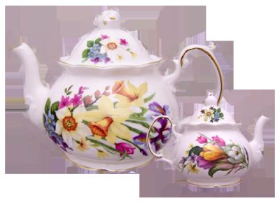 Spring Garden Four Cup Teapot