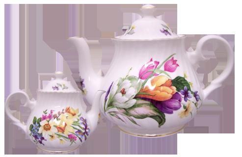 Spring Garden Six Cup Teapot
