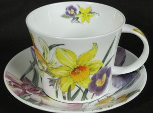 Spring Flowers breakfast cup and saucer
