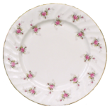 Two Scattered Rose Dessert Plates