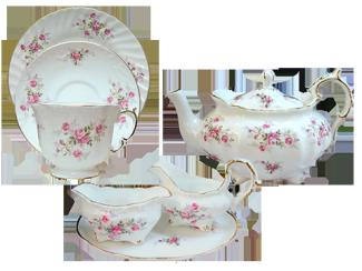 Scattered Rose Tea Set