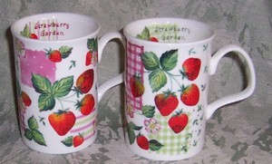 Strawberry Garden Mugs