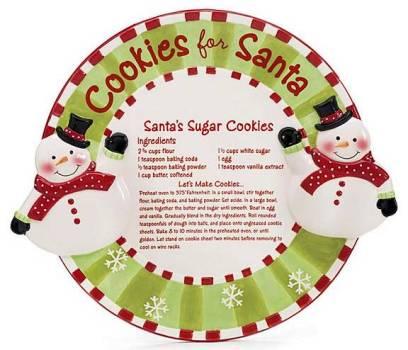 Santa's Sugar Cookies Recipe Platter
