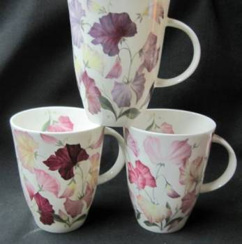 Three Sweet Pea Mugs