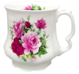 Two Summertime Rose Tankards