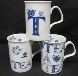 Three English Tea Mugs