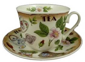 Tea Time breakfast cup and saucer