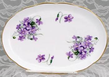Violets Serving Tray