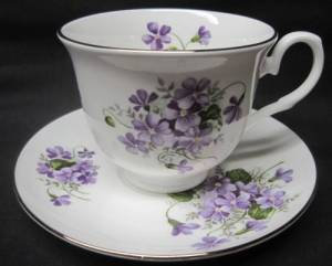Two Wild Violet Cup Sets